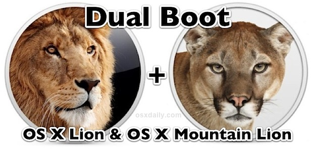 Dual Boot OS X Lion and OS X Mountain Lion