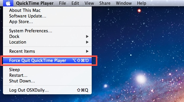 How to Force Quit an App from the Apple menu in OS X