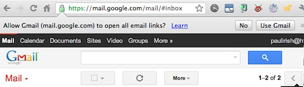 Gmail as default email in Chrome