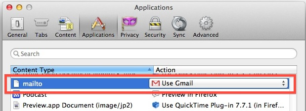 Gmail Default Email with Firefox