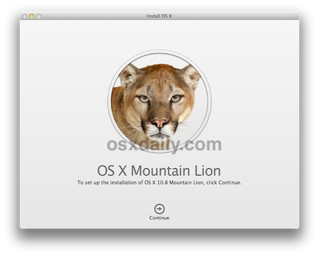 Install OS X Mountain Lion