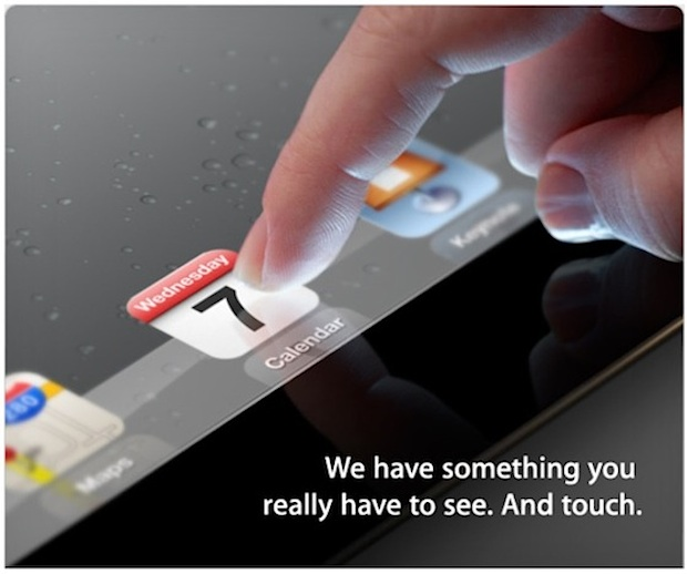 iPad 3 Screen Invite