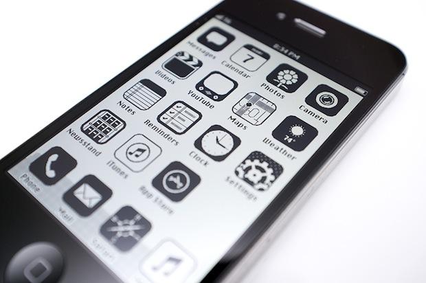 iPhone with Retro iOS UI
