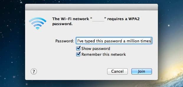 Mac won't remember WiFi Password fix