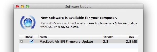 MacBook EFI Firmware Update
