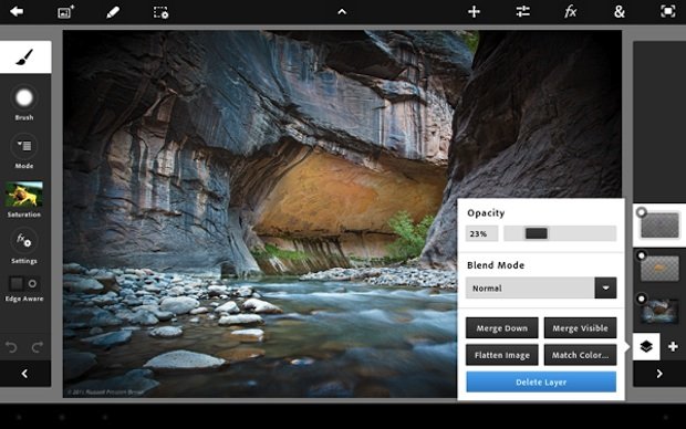 Photoshop Touch for iPad screen shot