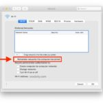 Prevent Mac from remembering joined wi-fi networks