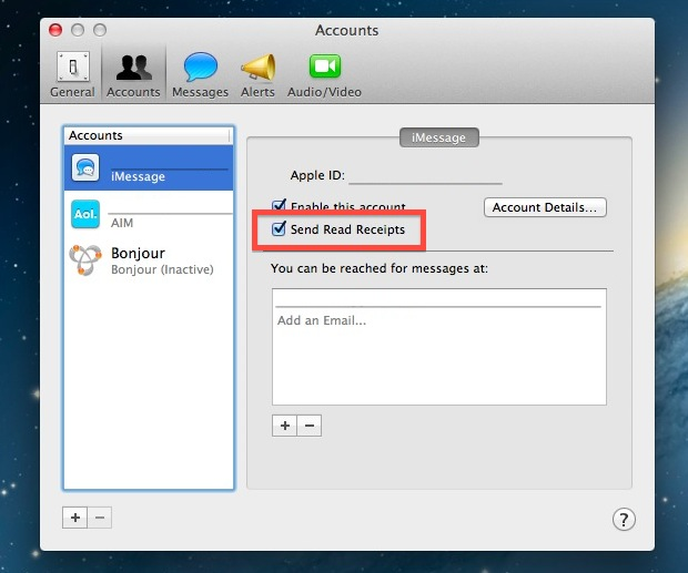 Read Receipts in iMessage for Mac