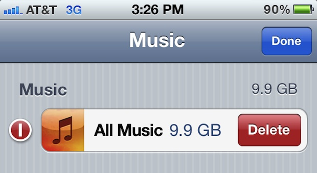 Remove All Music from iPhone