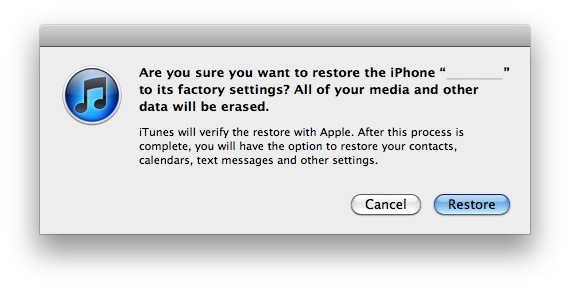 Restore an iPhone or iPad