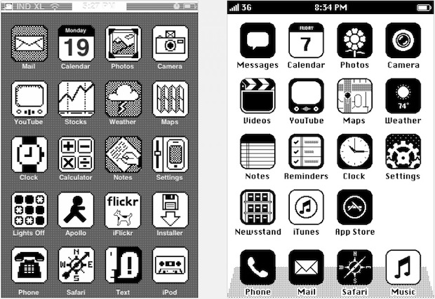 Retro iOS UI on iPhone
