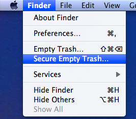Secure Empty the Trash in Mac OS X