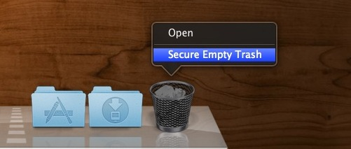 Secure Empty Trash on a Mac