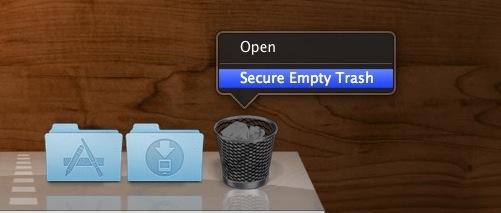 Secure Empty Trash on a Mac