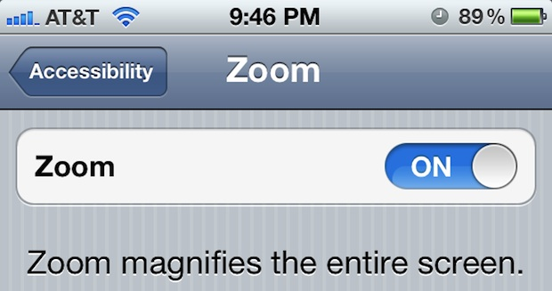 Enable Zoom in iOS