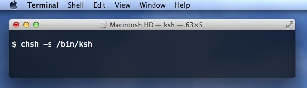 Change the Shell in Mac OS X