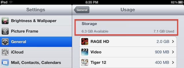 Check How Much Storage Available on iOS