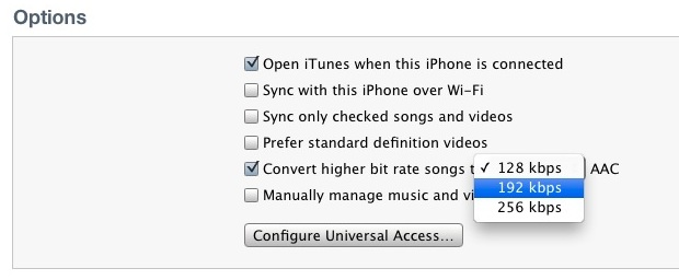 Convert Bit Rate of Songs in iTunes