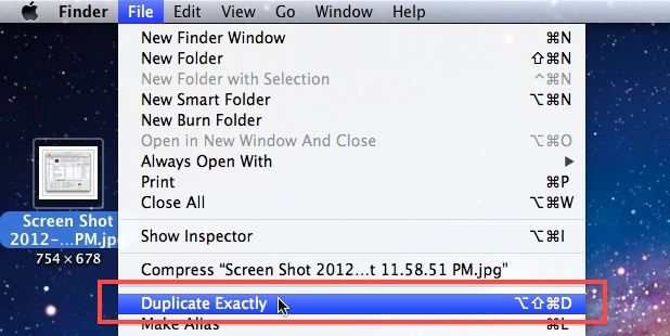 Duplicate Exactly in Mac OS X