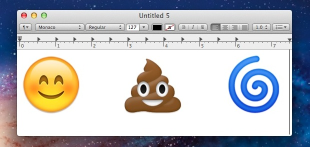 Emoji in Mac OS X