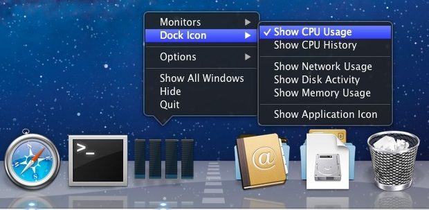 Enable the Dock Activity Monitor in Mac OS X
