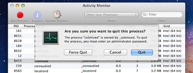 Force Quit Mac Apps from the Activity Monitor