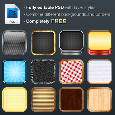 Free iOS DIY Retina Icon Kit