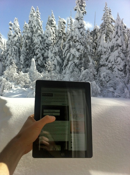 iPad 3 in the snow