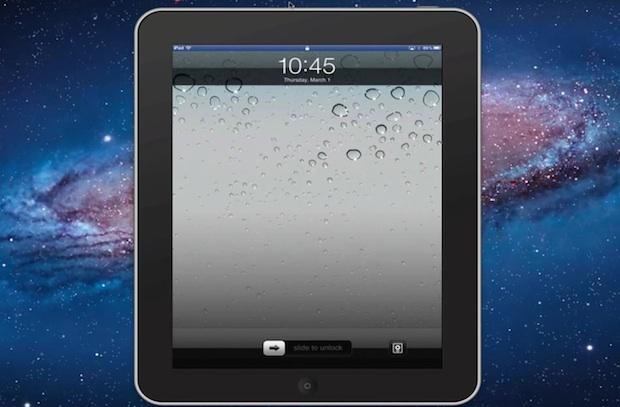 iPad screen mirrored to Mac