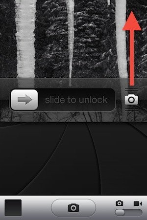 New Lock Screen Camera Gesture in iOS 5.1