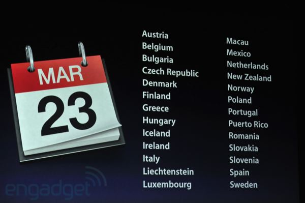 New iPad release date