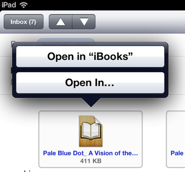 Transfer and Open ePub on an iPad