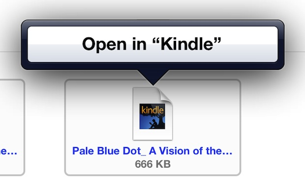 Transfer and open mobi ebooks on iPad