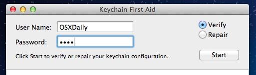 Repair Keychain Access