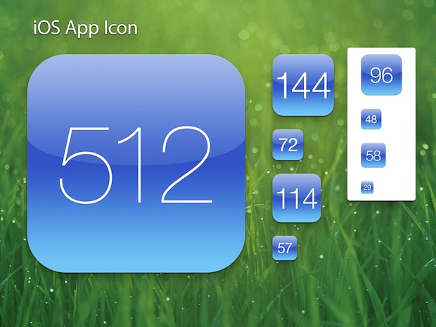 Retina iOS App Icon Template
