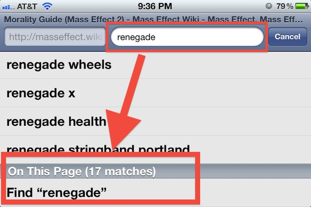 Search on Page in Safari for iPhone and iPod touch