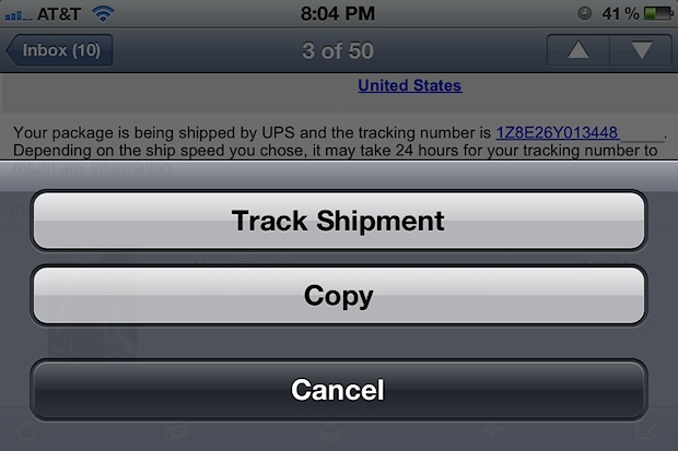 Track Shipment in iOS