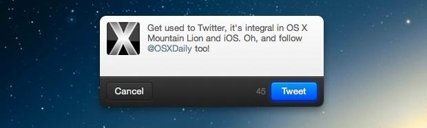 Tweet in OS X