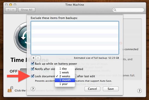 Change File Lock Duration in Mac OS X