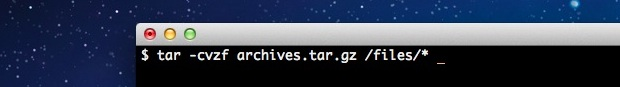 How to Create a Tar GZip Archive Bundle