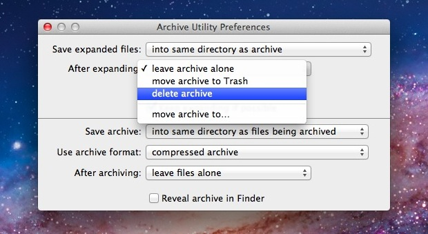 Delete Archive After Expanding