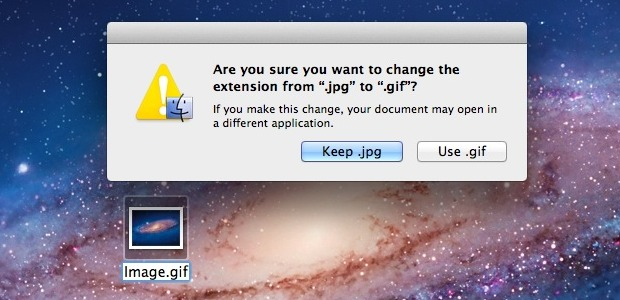 File Extension change warning in OS X
