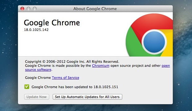 Google Chrome automatic update