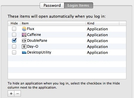 Removing things from Login Items helps boot quicker