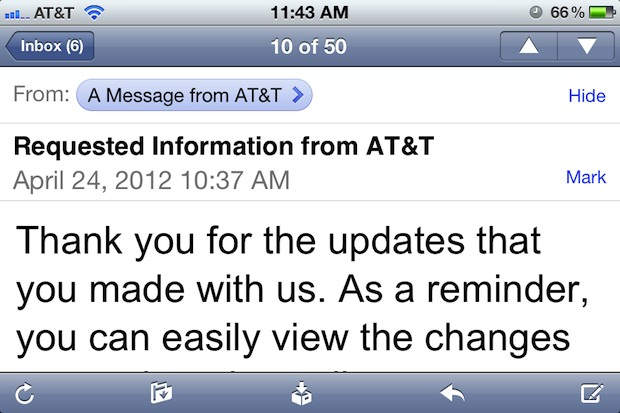 Change Mail font size on iPhone