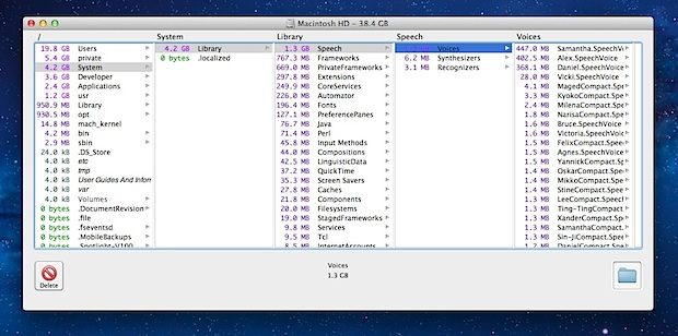 OmniDiskSweeper for Mac OS X