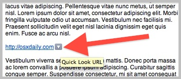 Quick Look a URL from Mail app in OS X