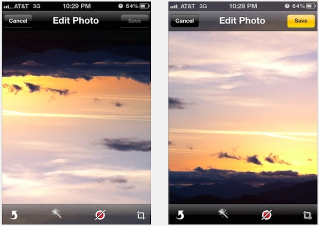 Rotate photos on iPhone and iPad