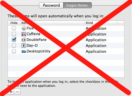 Temporarily Disable Login Items in Mac OS X