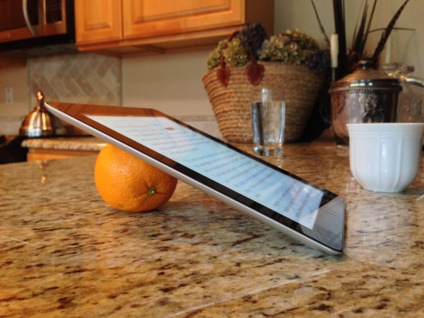 Use fruit as an instant iPad stand